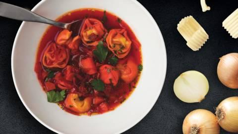 Burokelių sriuba su virtinukais