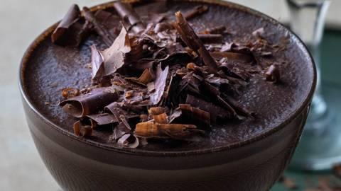 Juodojo šokolado ir kavos kokteilis