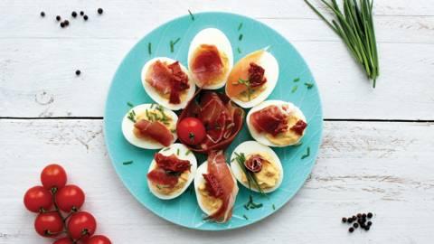 Įdarytos kiaušinių puselės