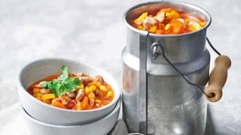 Kalakutienos ir kukurūzų sriuba