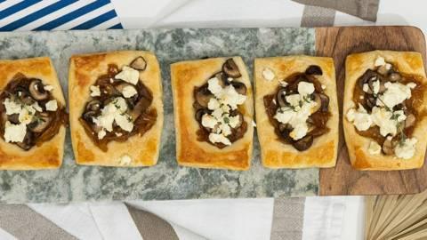 ▶▶ Grybų ir ožkos sūrio pyragėliai