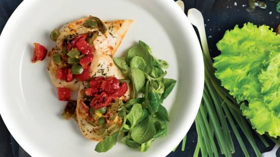 Itališki vištienos kepsneliai su pomidorais