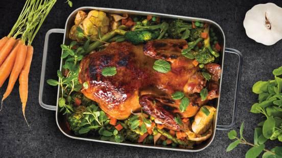 Antis su brokoliais, smidrais ir mėtomis