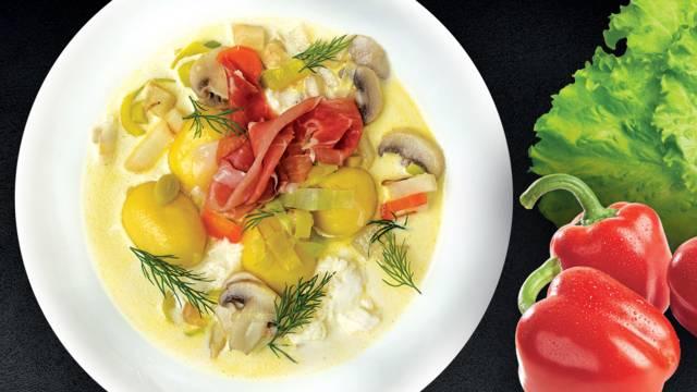 Grybų sriuba su bulvių virtinukais