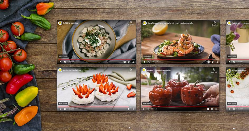 Video receptai