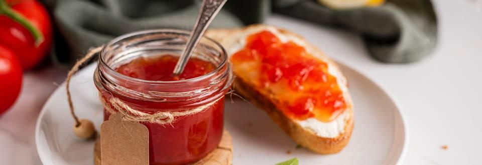 Saldus pomidorų džemas su vanile