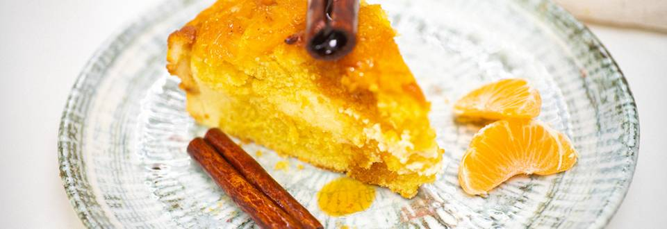 Varškės pyragas su mandarinais