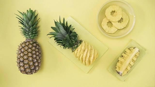 Kaip pjaustyti ananasus?