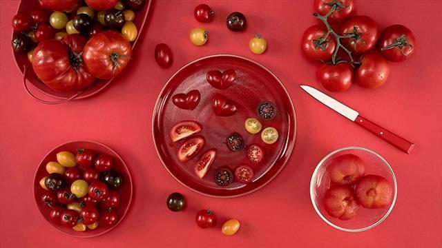 Kaip pjaustyti pomidorus?