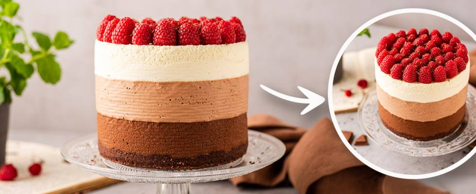 Trijų šokoladų tortas